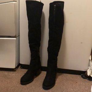 Kendall and Kylie thigh high velvet boots